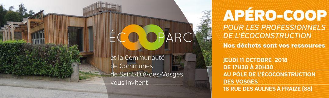 Apéro-coop de l'écoconstruction : 11 octobre à Fraize